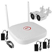 Комплект беспроводного WiFi видеонаблюдения на 2 камеры 1 Мп на 300 метров LONGSE WIFI2004PG1S100, КОД: 146777