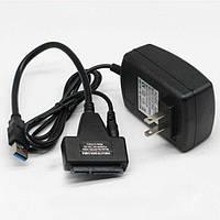 """Переходник для жесткого диска SATA к USB 2.0 для 2.5"""" 3.5"""" HDD с блоком питания"""