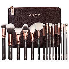 Набор кистей для макияжа Zoeva реплика 15 штук КОД: 333332