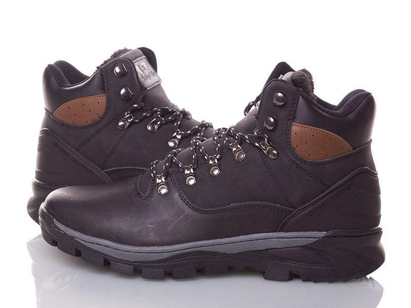 Натуральна шкіра зимові чоловічі черевики ARRIGO BELLO чорні 41р - 46р шкіряні