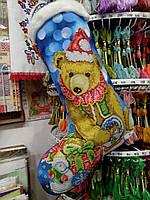 Пошитий новорічний чобіток для вишивання 23010 Biser art