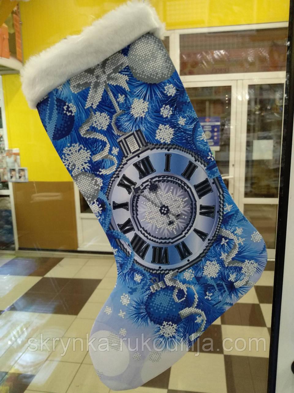 Пошитий новорічний чобіток для вишивання 23013 Biser art