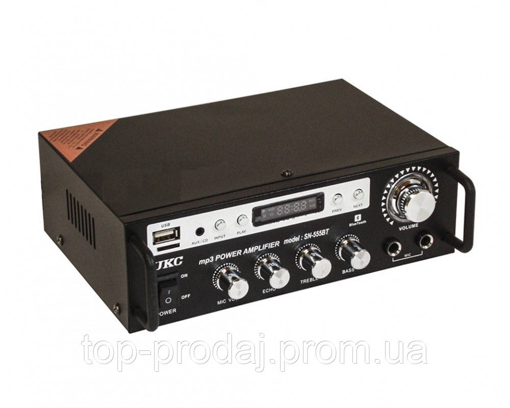 Усилитель AMP SN 555 BT  c bluetooth, Усилитель с караоке, Усилитель мощности звука, Стерео усилитель звука