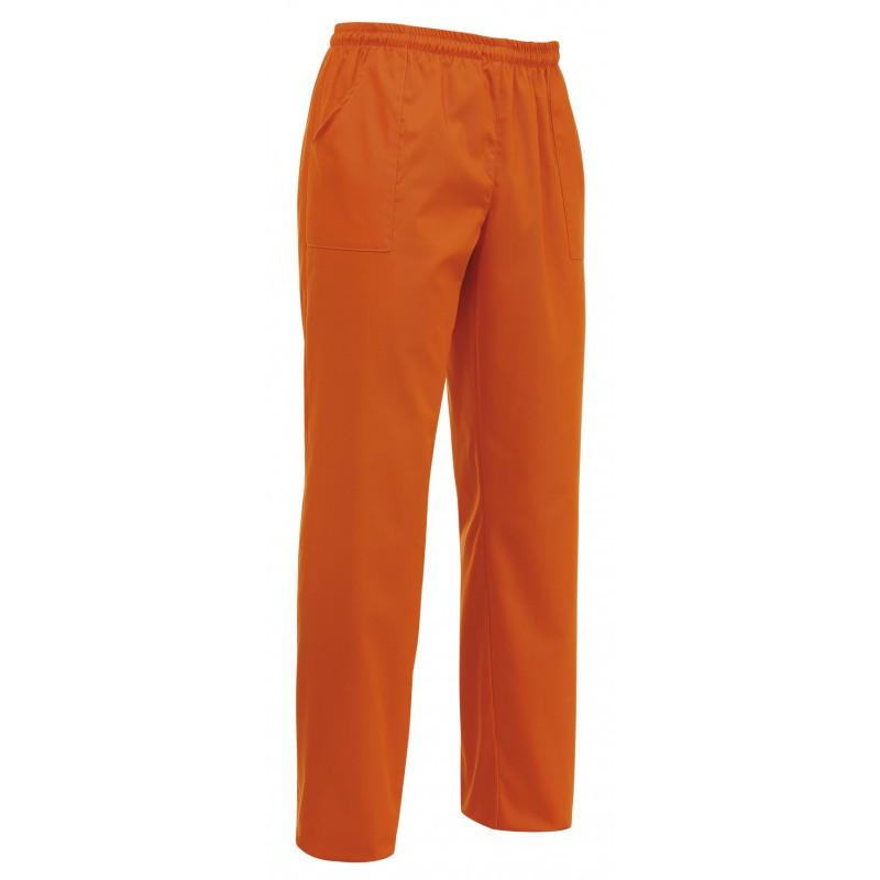 Штаны поварские / медицинские оранжевые на резинке с карманами Atteks - 01914
