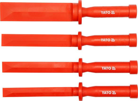 Набор пластмассовых шаберов 4пр., YT-0847 YATO, фото 2