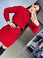 Осень 2018! Стильное и актуальное, женское, вязаное платье с интересным узором РАЗНЫЕ ЦВЕТА