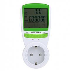 Розетка со счетчиком электроэнергии UMI TS-838 - ваттметр бытовой, измеритель мощности, КОД: 163374