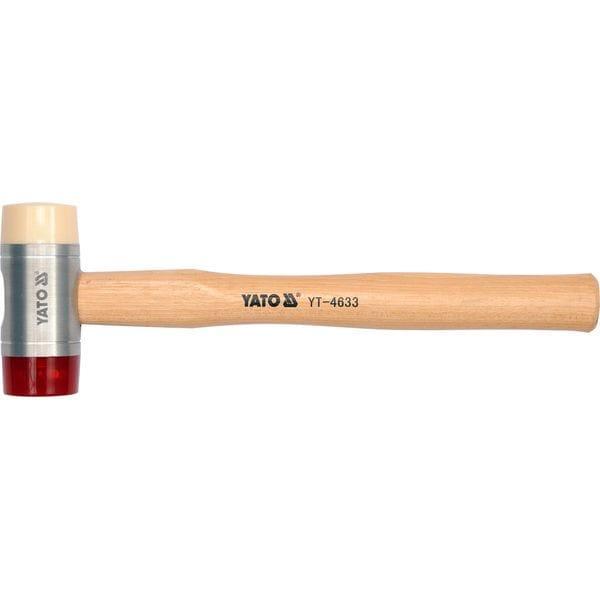 Молоток бляхарський полиурет/нейлон. ?= 45 мм с гикоров. ручкою, m=698 г, YT-4633 YATO