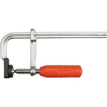 Струбцина кованая пласт. ручка 160х80мм, YT-6401 YATO, фото 2