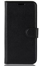 Шкіряний чохол-книжка для Xiaomi Redmi 6A чорний