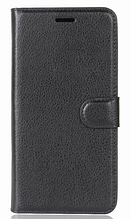 Кожаный чехол-книжка для Nokia 2 черный