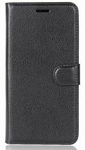 Кожаный чехол-книжка для Meizu Pro 7 черный