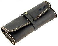 Кожаный футляр для очков Valenta Коричневый, КОД: 186022