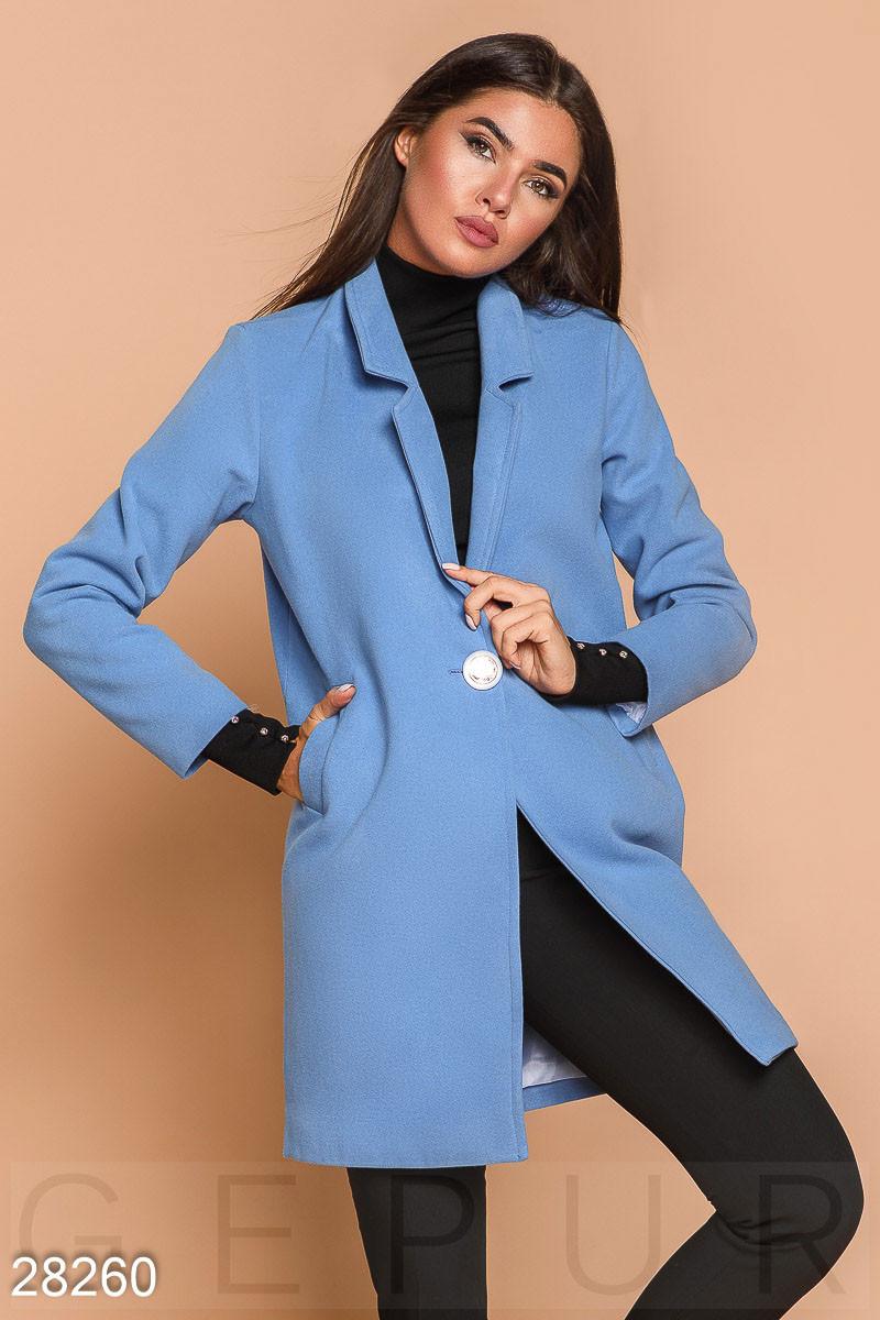 Стильное Пальто-пиджак Голубого Цвета — в Категории