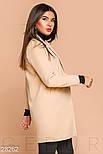 Стильное пальто-пиджак бежевого цвета, фото 2