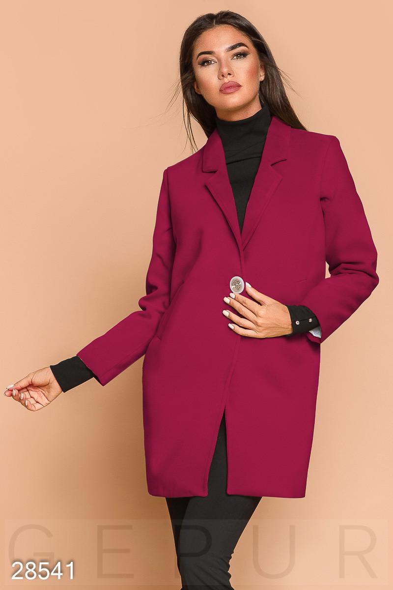 Стильное Пальто-пиджак Малинового Цвета — в Категории