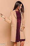 Классическое пальто из эко-кашемира бежевого цвета, фото 2