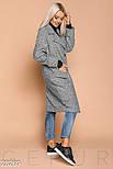 Пальто-кокон серого цвета из букле, фото 2
