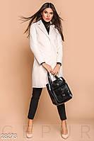 Женское кашемировое пальто с разрезом