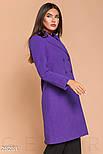 Женское двубортное пальто фиолетового цвета, фото 2