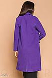 Женское двубортное пальто фиолетового цвета, фото 3