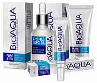 Набор для проблемной кожи Анти-акне, Pure Skin BIOAQUA 3шт, фото 1