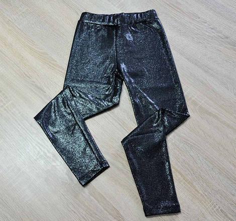 Лосины черного цвета с отливом для девочки, Benini