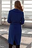 Стильное женское классическое пальто синего цвета, фото 4