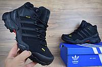 Мужские зимние ботинки 41 размер Adidas Terrex 465 черные/серые петли Реплика, фото 1