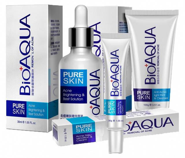 Набор для проблемной кожи Анти-акне, Pure Skin BIOAQUA 3шт