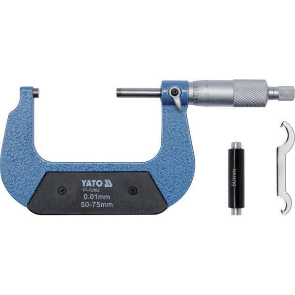 Мікрометр з точністю 0,01 мм в діапазоні 50 - 75 мм [20], YT-72302 YATO