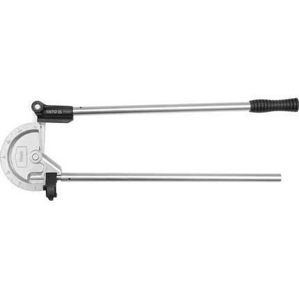 """Трубогин 2-ручний для алюм. і мідних труб ?= 23/32"""" (18 мм) під кут 0- 180° [10], YT-21846 YATO, фото 2"""