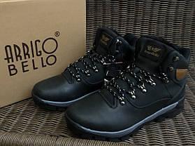Натуральна шкіра зимові чоловічі черевики ARRIGO BELLO чорні 41р - 46р шкіряні, фото 2