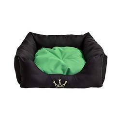 Лежак для собак и котов Noble Pet Henry 55 x 55 x 15 Черно-зеленый H2114 55, КОД: 218770