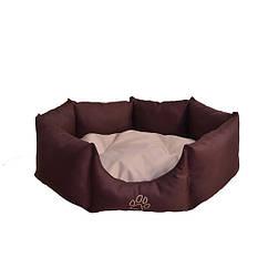 Лежак Noble Pet Maverick 60 x 40 x 16 см Коричнево-бежевый M2104, КОД: 218778