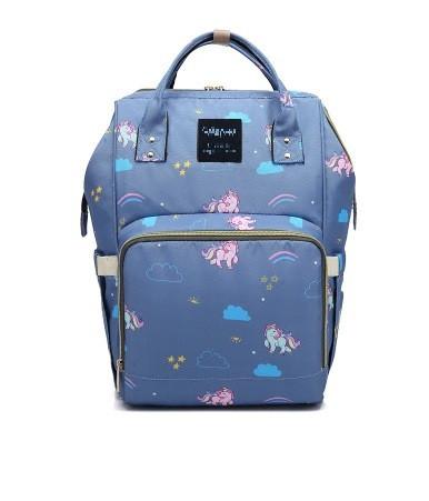 5e6c8fffbf00 Рюкзак-сумка Органайзер Baby-mo для Мам Пони на Голубом (35144848 ...