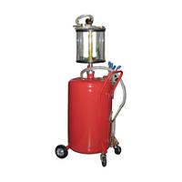 Установка для вакуумной откачки масла с мерной колбой (80л.) G.I. KRAFT B8010KV