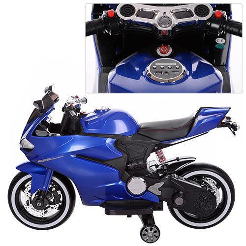 Детский электромобиль мотоцикл Bambi M 3467EL-4 EVA mp3 кожа свет колес 70W  105см 49c0aad0670d9