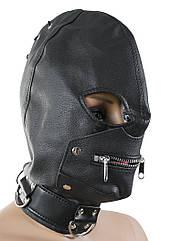 Шлем с молнией и шнуровкой Пикантные Штучки DP010 Черный КОД: 626463