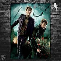 Постер Фред и Джордж Уизли. Гарри Поттер и Дары Смерти, Harry Potter. Размер 60x42см (A2). Глянцевая бумага