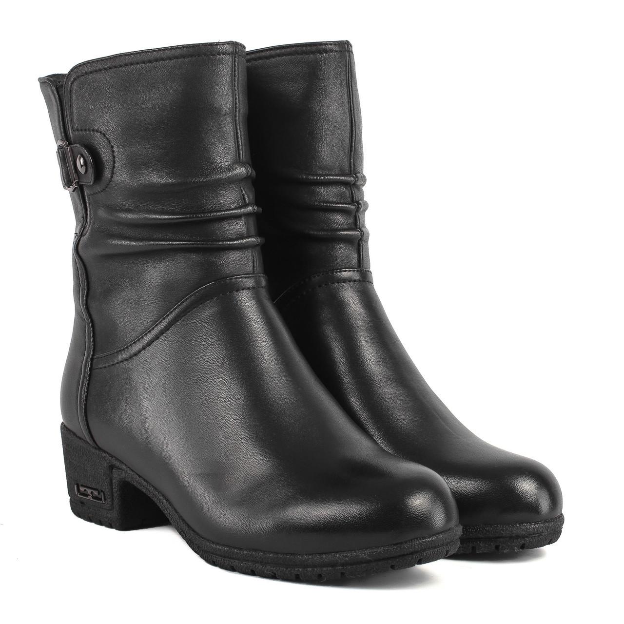 Ботильоны женские My Classic (кожаные, на удобном каблуке, качественные)
