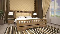 Кровать двоспальная с натурального дерева в спальню ТИС АТЛАНТ 11 160*190 сосна