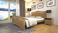 Кровать двоспальная с натурального дерева в спальню ТИС АТЛАНТ 22 160*190 сосна