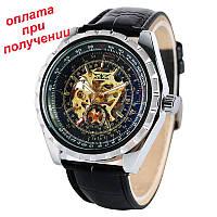 Чоловічі механічні брендові годинник скелетон JARAGAR Skeleton з АВТОПІДЗАВОДОМ, фото 1