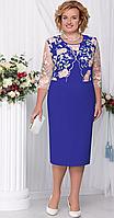 Платье Ninele-2102/1 белорусский трикотаж, василек, 54