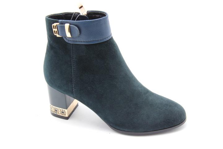 Замшеві черевики на підборах Battine B581