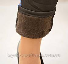 Лосины женские на меху с карманами и полосой - Французкий мотив, фото 3