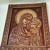 Казанская икона Божьей Матери в окладе 160х200х18 мм, фото 1