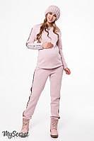 Теплый трикотажный костюм для беременных и кормящих RYAN пудра
