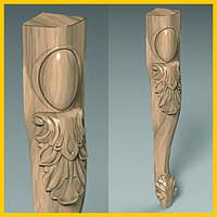 Изготовление гнутых деревянных ножек стола, стула, кресла. Кабриоль с лепестком и виньеткой. 420 мм